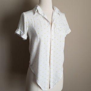 Japna polka dot tie front blouse